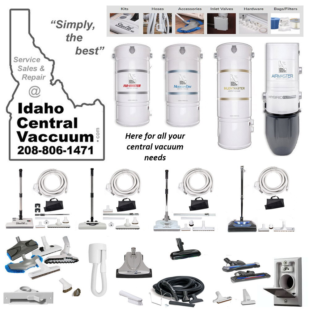 IdahoCentral Vacuum Systems Boise Meridian Eagle Star Middleton McCall Namps Caldwell Kuna Sun Valley Idaho Electric Power Brush Hose Parts Service Repair