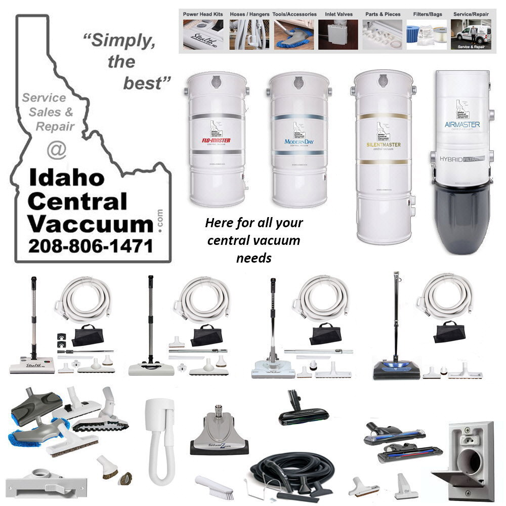 Idaho Central Vacuum Systems Boise Meridian Eagle Star Middleton McCall Namps Caldwell Kuna Sun Valley Idaho Electric Power Brush Hose Parts Service Repair