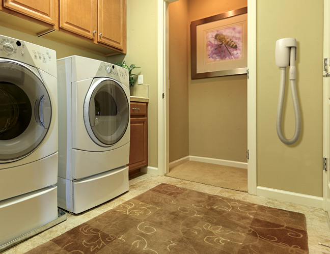 ideal for laundry rooms